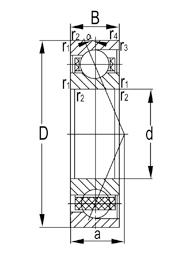 7200 Series Medium Duty Super Precision Angular Contact Ball Bearings